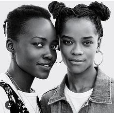 Lupita Nyong'o & Letitia Wright