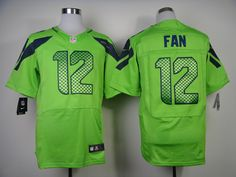 Men's NFL Seattle Seahawks #12 Fan Green Elite Jersey
