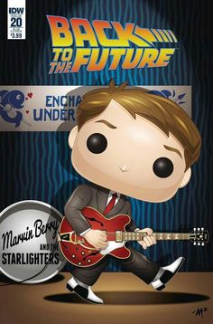 Take a look at the Funko-ized variant covers for Back to the Future, Star Trek, The Powerpuff Girls, and Dirk Gently. Poster Series, Movie Poster Art, Science Fiction, Pop Posters, Bttf, Marty Mcfly, Pop Figures, Michael J, Film Serie