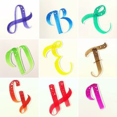 Hand Lettering Alphabet, Brush Lettering, Alpha Bet, Scripts, Handwriting, Bujo, Planners, Doodle, Fonts