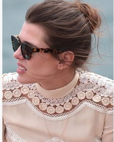 Day 6 Celebrity Sightings - The Annual Cannes Film Festival Charlotte Casiraghi, Princess Grace Kelly, She Walks In Beauty, Star Wars, Trends, Models, Bun Hairstyles, Classic Style, Beautiful People