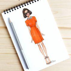 Style of Brush by Gizem Kazancigil #fashionillustration gizem kazancigil (@gizemkazancigil