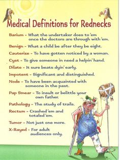 Medical Definitions for Rednecks