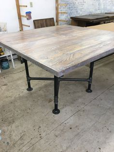 Square Wood Dining Table Reclaimed Wood By Freshrestorations Square Dining Room Table Square Kitchen Tables Dining Table With Bench
