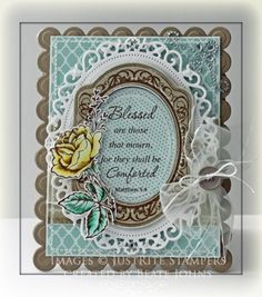 By: Beate Johns    This card was created using Spellbinders Cclassic Oval, Nested Oval Medallion, Floral Oval, Grand Rectangle, and Grand Scallop Retangle dies.