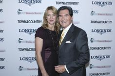 """Ernie Anastos New York Emmy award winning New TV anchor hosting the annual """"Women Who Make a Difference"""" awards with Tennis Champion Steffi Graf who also heads the International Children for Tomorrow Foundation."""