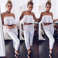 Coastal luxe in the Lost Paradise Crop + Break Free Stripe Pants ✨ II Get shopping girls!! SHOP NEW ARRIVALS --> www.muraboutique.com.au #muraboutique #murastyle #tobyheartginger #croptop #pants #coastal #summer #lounging #basics #girl #model #fashion #style #trend #outfit #inspo