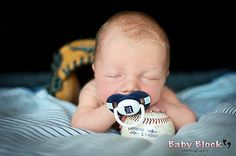 Newborn boy baseball photo shoot - babyblockphotography  http://www.facebook.com/BabyBlockPhotography Westland, Michigan.
