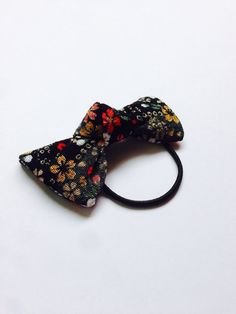 Bow elastic, Japanese Bow, Japanese fabric Bow, Japanese elastic, Sakura hair accessry, ponytai ribbon, FREE SHIPPING on Etsy, ¥372.34
