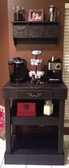 Home Coffee Station Bar.....This is so cute. I would drink more coffee just because of how it looks!
