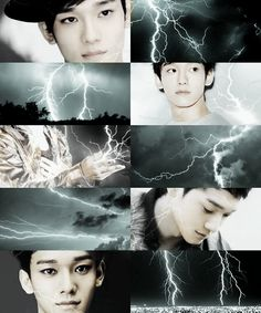 If EXO own the weather  →  Chen would be the reason behind the lightnings