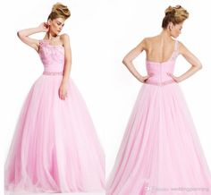 Gemtlewomanly Sexy Party Gowns Pink Evening Dress A Line Floor Length Spaghetti Beading Tulle Evening Longuette Long Sleeve Lace Prom Dress Online with $123.58/Piece on Weddingplanning's Store | DHgate.com