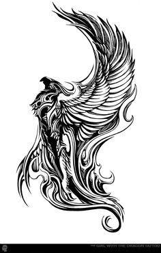 Gargoyle, Winged Beast, Hybrid Animal, Tattoo Stencil, Tattoo Ideas, Black and White Tattoo