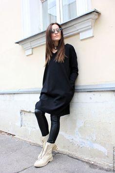 e2dc6d64b65 R00040 Платья черное из джерси теплое платье шерстяное красивое короткое  платье на каждый день уютное платье