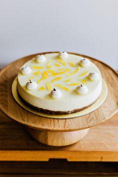 Tokyo Yuzu Cheesecake Order online at order.sundayfolks.com sundayfolks.com Freshly Baked, Dessert Recipes, Desserts, Eating Well, No Bake Cake, Panna Cotta, Food Photography, Cheesecake, Ice Cream