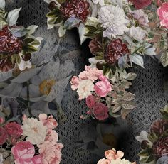 estampa pattern floral renda inverno