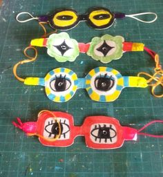 cute spectacle masks - what fun projects!