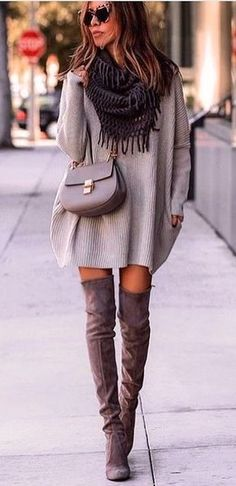 #fall #outfits gray corduroy poncho