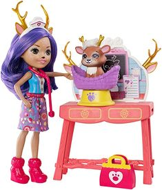Enchantimals Caring Vet Playset with Danessa Deer Doll Spiderman Theme Party, Deer Ears, Rocking Horse Toy, Kawaii Jewelry, Pink Plastic, Bear Doll, Bitty Baby, Colourful Outfits, Barbie Dolls