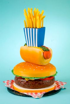 Tartas originales: Fast food