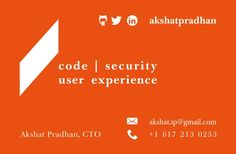 Business Card for Akshat Pradhan