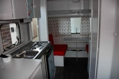 Caravan clean white and reds