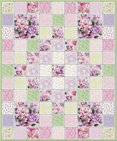 Lavender Memories Quilt Kit. Wonder if i could copy and do it in flannel ... even rag quilt... for baby?