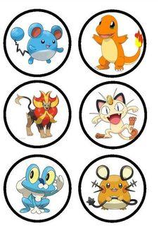 Imprimibles de Pokemon GO - stickers pokemon go - etiquetas candy bar pokemon go - imprimibles pokebola