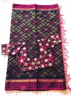 Wedding Saree Blouse Designs, Saree Blouse Neck Designs, Simple Blouse Designs, Saree Blouse Patterns, Designer Blouse Patterns, Mirror Work Saree Blouse, Mirror Work Blouse Design, Kutch Work Designs, Sarees
