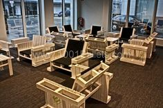 Pallet seats in pallet furniture  with Seat Pallets Chair