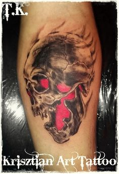 Krisztian Art Tattoo - Cover up tattoo skull