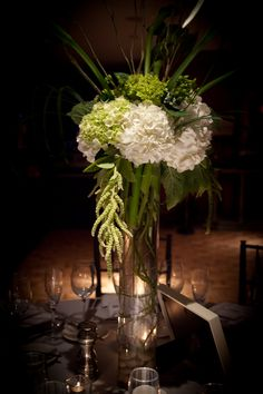 Stunning modern centerpieces from a mystical forest themed wedding in Northern VA