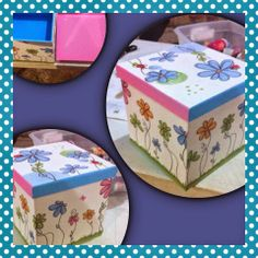 Diy Y Manualidades, Diy And Crafts, Decorative Boxes, Sweet Home, Plates, Tableware, Decoupage Ideas, Home Decor, Crates