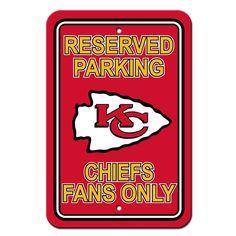 Kansas City Chiefs Reserved Parking Sign