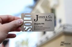 Clear background is cool! 15 Cool Real Estate Agent Business Cards 14