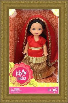 Make an Offer! SALE! 2014 Barbie in India-Kelly in India! Red & Gold. FREE SHIP! #Dolls