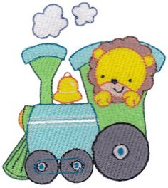 Animal Train embroidery designs at Bunnycup Embroidery at http://www.bunnycup.com/embroidery/design/AnimalTrain