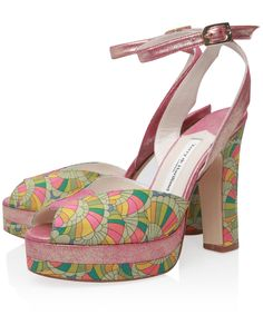 Terry de Havilland Fuchsia Daisy Baby Rainbow Peep Toe Sandals | Women's Shoes | Liberty.co.uk