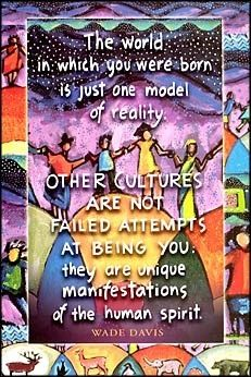 Other Cultures Are Not Failed Attempts At Being You: they are unique manifestations of the human spirit. The world in which you were born is just one model of reality. Quote by Wade Davis Art by Ann Altman / remember to look at the big picture Anthropologie, We Are The World, In Kindergarten, Inspire Me, Life Lessons, Wise Words, Decir No, Favorite Quotes, Inspirational Quotes