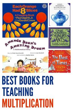 Great books for exploring a range of multiplication strategies for primary/elementary school aged children.