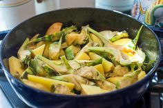 Braised artichokes and potatoes may not be the prettiest dish in the world, but it's perfectly delicious.