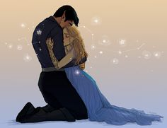 Feyre Rhys Though I think it should be the other way around. Rhys falling into Feyre's arms