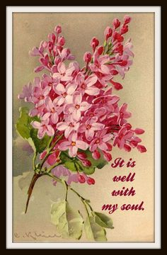 "Vintage A ""It Is Well In My Soul"", Wall Decor, 8 x 10"" Unframed Printed Art Image, Scripture Print, Motivational Quote"