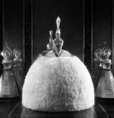 """""""Perfume dress"""" designed byErtéfor Bright Lights (Robert Z. Leonard, 1925), a film about Broadway. All copies of this film have been los..."""