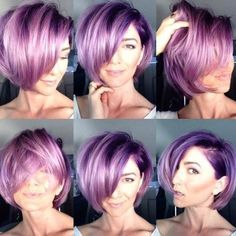 """""""Flashback! We just love this selfie by @heidimariegarrett. For the formula and how to, go to modernsalon.com and search Heidi Marie Garrett"""""""