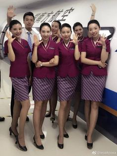 Flight Attendant Hair, Flight Girls, China Southern Airlines, Airline Uniforms, Sexy Stockings, In Pantyhose, Beautiful Asian Girls, Asian Woman, Beautiful Outfits