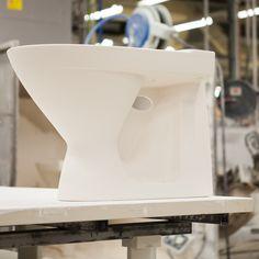 WC-istuin tehtaalla. #bathroom #bathroomdesign #interiordesign #homespa #scandinaviandesign #bathroomideas #bathroomsink #interiordecoration #toilet #factory #sink #finnishdesign #bathroominspiration #ceramics #ceramicsoven #bathroomidea #tap #washbasin #fauset #behindthescenes #sanitary #porcelain #interiorideas #toiletseat