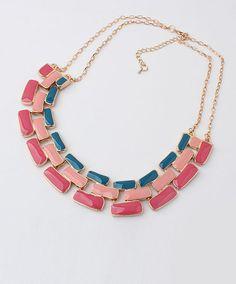 Muti Row Geometric Necklace