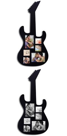 Black Wood Guitar Collage Picture Photo Frame