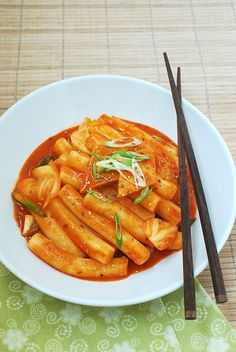Tteokbokki (Spicy Stir-fried Rice Cakes) - Korean Bapsang